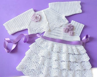 Crochet Baby Outfit, Crochet Christening Set