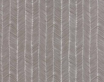 Catnip- Kitten Lines- Grey- Gingiber- Moda Fabrics