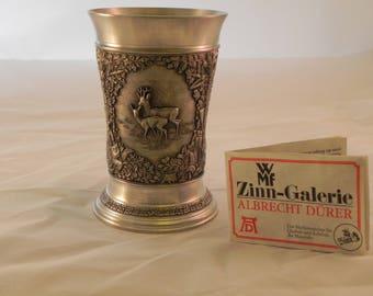 Exquisite Pewter Tumbler WMF Zinn