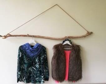 5' Driftwood Branch Clothing Rack Hanging Driftwood Piece Drift Wood Curtain Rod