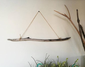 Quality Driftwood Supplies - Gray Beige Driftwood Branch For Wall Hanging Weaving & Macrame 23.5""