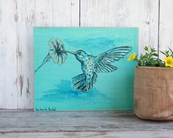 Hummingbird Print On Wood, Bird Wall Sign, Wood signs for home, Housewarming Gift, Rustic wood sign, Natural art, Farmhouse Decor