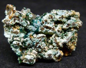 Dioptase Crystals -Malpaso Quarry, Argentina - Natural mineral specimen k1 eb
