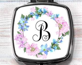 Compact Mirror, Personalized Compact Mirror, Bridesmaid Gift, Maid of Honor Gift, Swag Bag Favor, Pocket Mirror, Stocking Stuffer