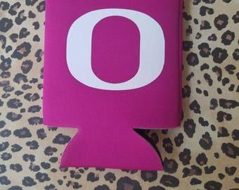 Oregon Ducks inspired can cooler, Oregon Ducks, can cooler,