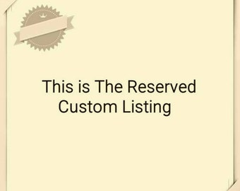 """This custom order listing is for """"Jessica Sherman"""" only."""