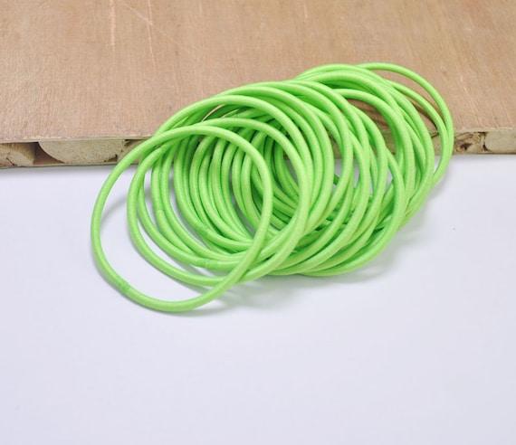 Diy hair elastics pcs or elastic cord grass green
