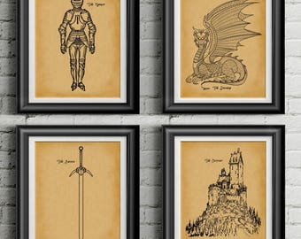 Dungeon Master Gift * Pathfinder * Dungeons and Dragons * DND Gift * DnD Gift Idea * Dungeon Master * Game Master * RPG Art Set of 4 PP 9404