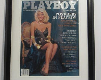 Vintage Playboy Magazine Cover Matted Framed : March 1992 - Anna Nicole Smith (Vickie Smith) (Vickie Hogan)