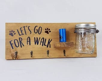Let's Go for a Walk Leash and Treat Organizer