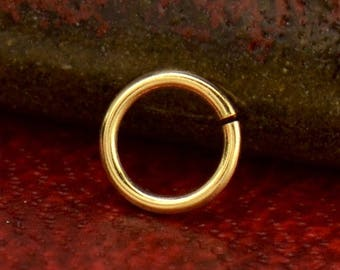 Solid 14K Gold, 5mm Jump Ring, Jumpring, 5mm, Jump Ring, Gold Jumpring, Gold Jump Ring, Jewelry Finding, Gold Finding, Round Finding