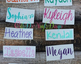 ON SALE Personalized Name Decal - Custom Name Decal - Any Word Decal - Custom Decal - School Decal - Name Decal - Word Decal - Vinyl Decal -