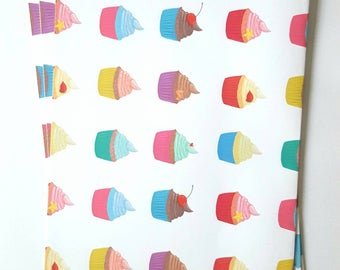Cupcakes A3 Handmade Wrapping Paper - A3 Sheets - Ideal for Small Gifts