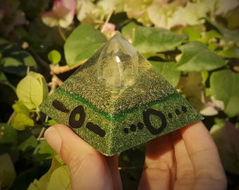 Pyramid EMF Protection Orgone with Clear Quartz Crystal