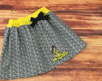 Belle Skirt, Princess Belle, Disney Princess Skirt, Beauty and the Beast Skirt, Beauty and the Beast, Beauty and the Beast Party, Handmade