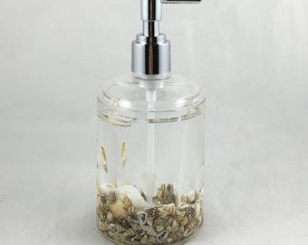 Sea Escape Lotion Dispenser with Premium Quality Acrylic and Mineral Water inside