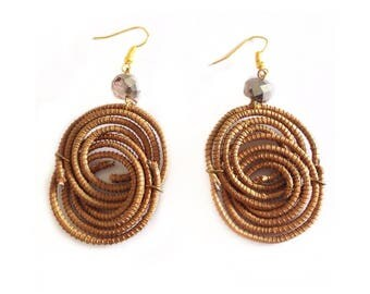 Earrings made of pine needles - Mexican inspired jewelry