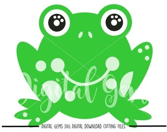 Frog svg / dxf / eps / png files. Digital download. Compatible with Cricut and Silhouette machines. Small commercial use ok.