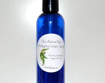 Eucalyptus Linen Spray 4oz, Room Fragrance, All Natural Air Freshner