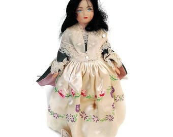 vintage french doll, collectible doll, mid century doll