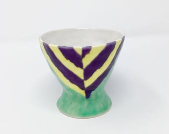 Wine Cup- Purple/Yellow