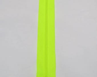 NEON yellow zipper 20 cm, spiral stitch
