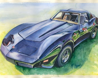 Corvette stingray Original Painting