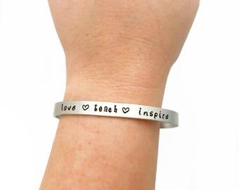 Teacher Appreciation Jewelry - End Of Year Teacher Gifts - Love Teach Inspire - Gift for Teacher - Teacher Appreciation Bracelet