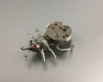 Handcrafted Steampunk Mechanical Bug