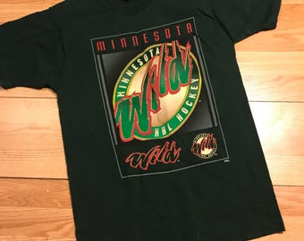 Vintage pro player Minnesota wild T-shirt size medium