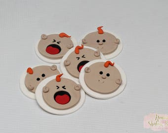 Baby Faces Edible Cupcake Toppers