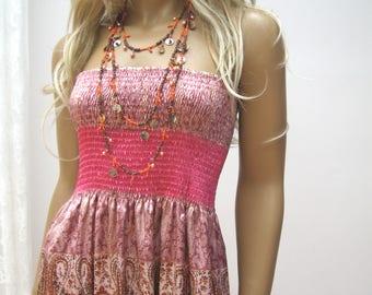 Bohemian dress,  MAXI TUBE strapless dress, Folk, boho dress, boho, gypsy dress