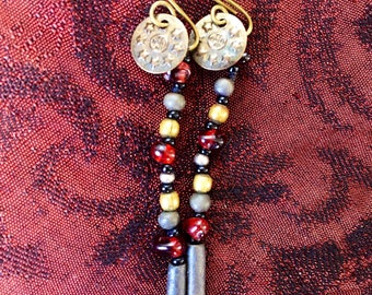 Up-Cycled Bead and Metal Earrings