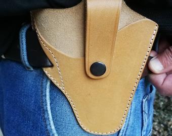 Tan Leather Holster, Belt Gun Holster