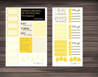 Go Gold for Pediatric Cancer sheet