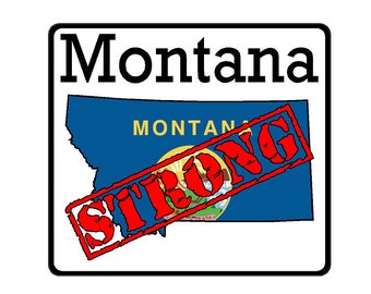 Montana State (K27) Strong Flag Vinyl Decal Sticker Car/Truck Laptop/Netbook Window