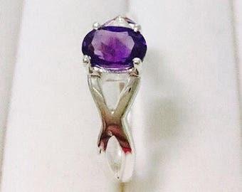 Amethyst Ring Sterling  925
