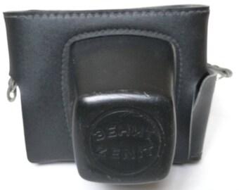 Zenit ET Camera Case. Vintage 1970s SLR Everready/ w Half Case