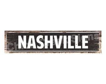 Nashville Metal Sign Etsy