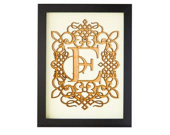 E - FRAMED MONOGRAM