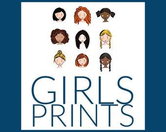 GIRLS PRINTS