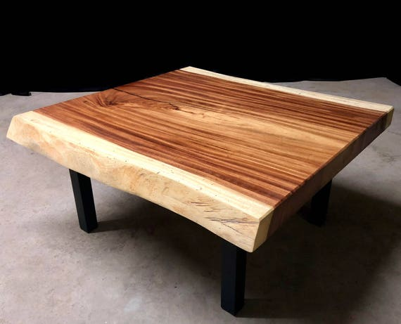 Guanacaste Live Edge Wood Slab Coffee Table Ready to Ship!