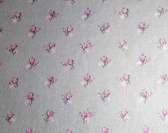 Cover grey topponcino pink flowers cost of shipping offered in France!