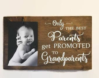 Only the best Parents get promoted to Grandparents - Grandparent Gift,Parent Gift,Gift for Grandparents,Gift for Parents,Grandparent gifts