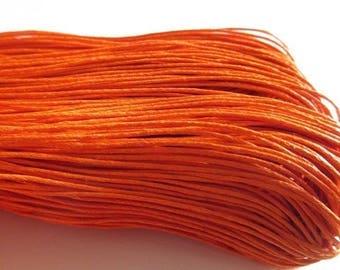 20 meters orange waxed cotton thread 1 mm