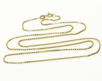 """14k 1.2mm Rolling Cable Chain Link Necklace Gold 18"""""""