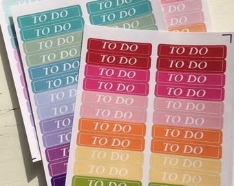 SALE | 75% OFF | Got To Do's  (112 Planner Reminder Stickers)