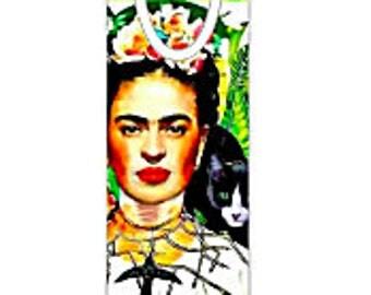 Frida Kahlo Cat Bookmark,Lovely,Holiday Unisex Gift, Gift for Women,GIft for Men, Gift for Book Lovers!