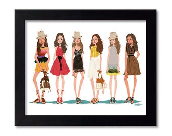 Vanessa Bruno - Fashion Illustration Print Fashion Print Fashion Art Fashion Wall Art Fashion Poster Fashion Sketch Art Print