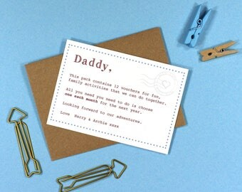Father's Day/ Birthday printable vouchers